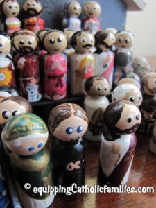 painted and decoupage saints