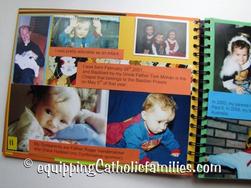 Confirmation Scrapbook Baptism
