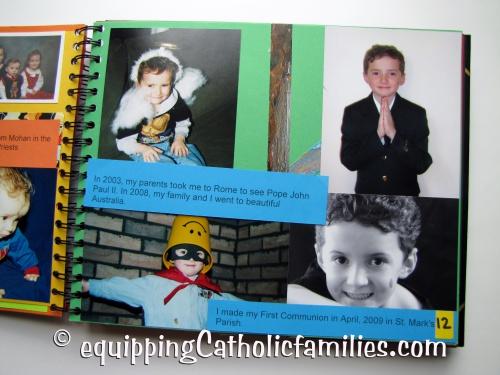Confirmation Scrapbook Communion