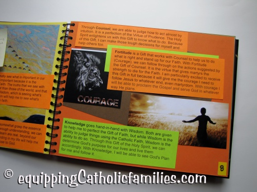 Confirmation Scrapbook Gifts of the Holy Spirit