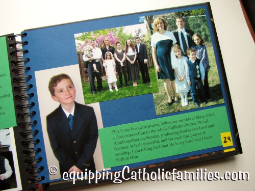 Confirmation Scrapbook Holy Communion