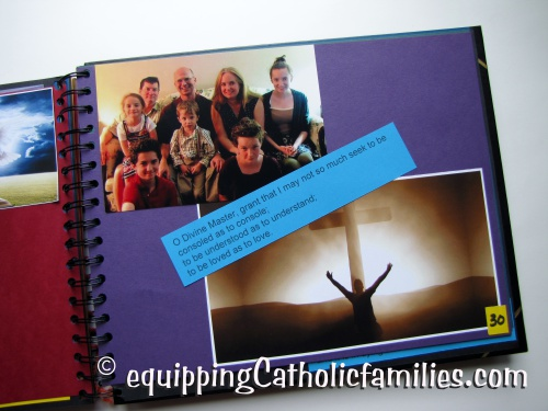 Confirmation Scrapbook family