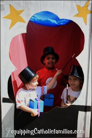 boys in a photobooth