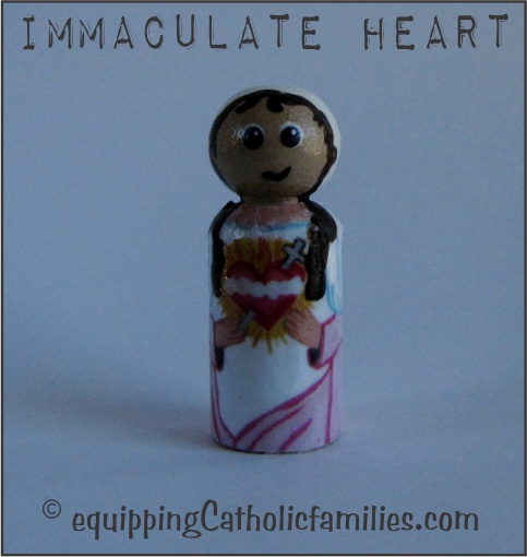 Immaculate Heart Decoupage Saint