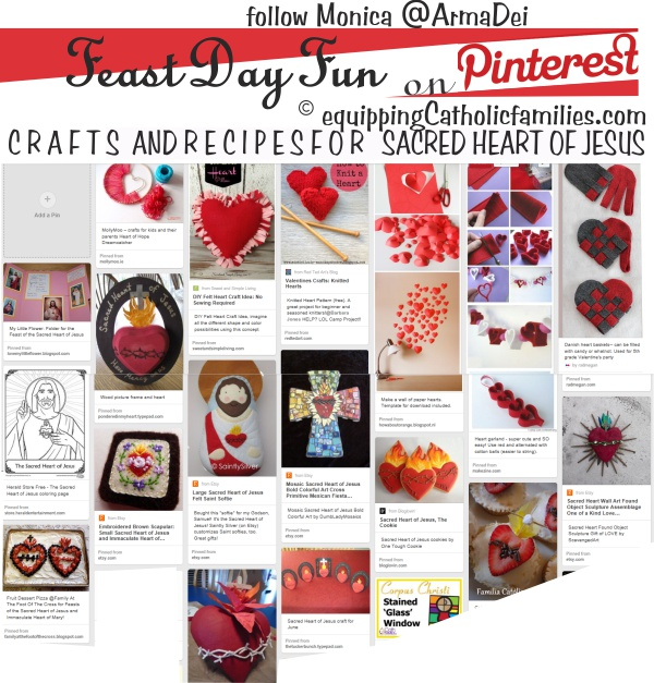 Pinterest collage Sacred Heart