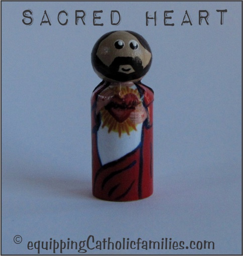 Sacred Heart Decoupage Saint