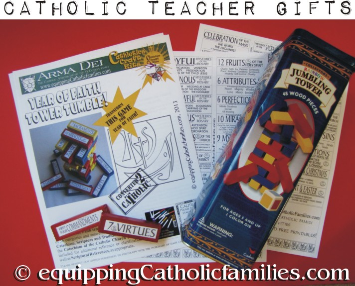 Year of Faith Tower Tumble Teacher Gift