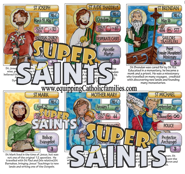New Release! Super Saints Cards featuring Kelly Saints!