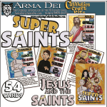 Jesus and the Saints! Super Saints Craft Kit with all 54 Cards