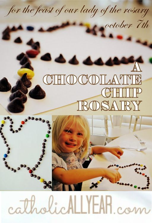 Chocolate Chip Rosary Catholic All Year