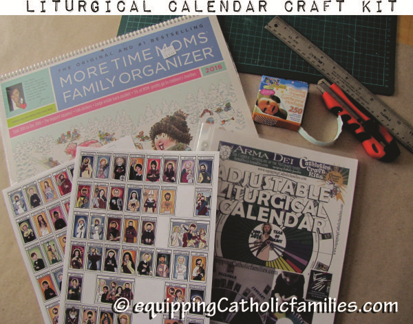 Adjustable Liturgical Calendar Stickies cymk