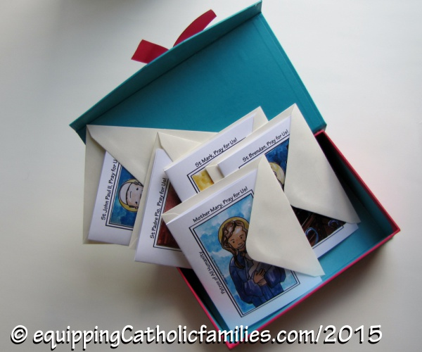 Kelly Saints Blessing Cards in a box