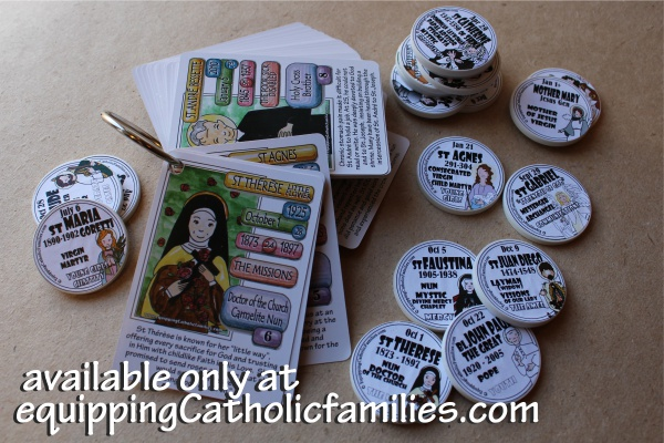 Kelly Saints Cards on a Ring plus tokens