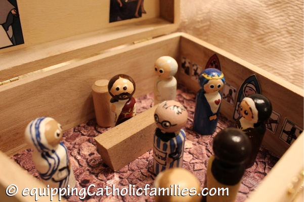 Mass in a box with the Painted Saints