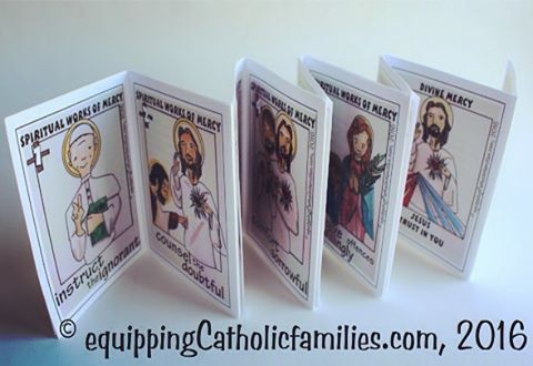 NEW Works of Mercy #kellysaintsstyle #catholiccrafts Printable just released! #equippingcatholicfamilies