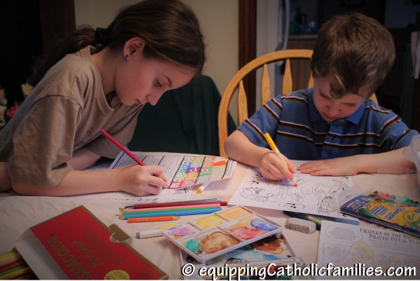 Colorers Divine Mercy Craft Kit