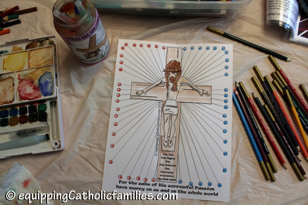 Crucifix Divine Mercy Prayer Counter
