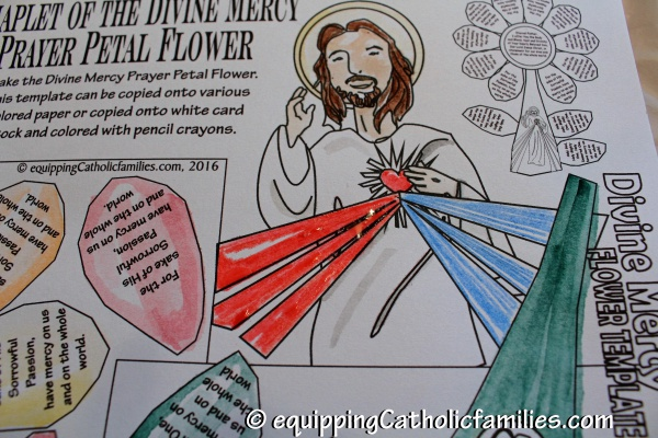Divine Mercy Prayer Petal Flower