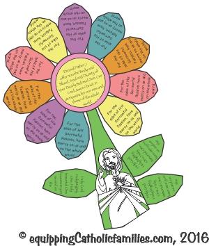 Divine Mercy Prayer Petal Flowers