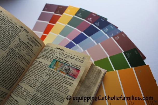 paint chips for bible journaling