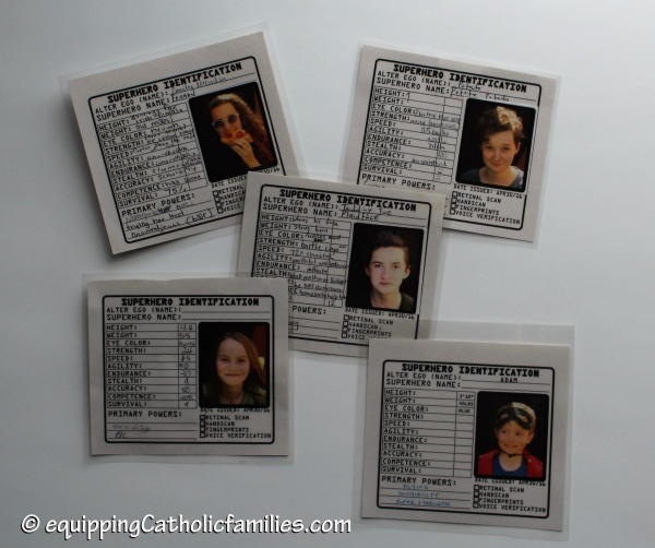 superhero id cards