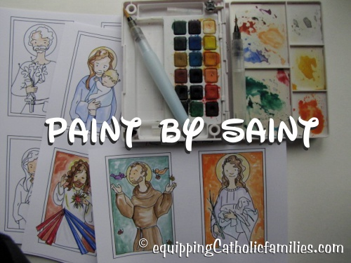 Paint-by-Saint-with-watercolor
