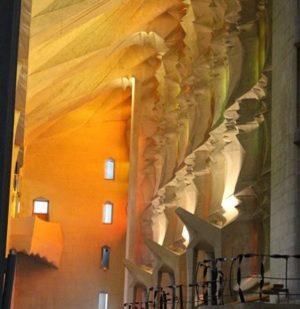 Side Aisle of the Sagrada Familia