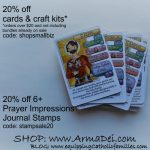Save on Saints & Stamps at the Arma Dei Shoppe