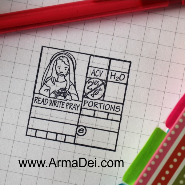 Patron Saint Journal Stamp