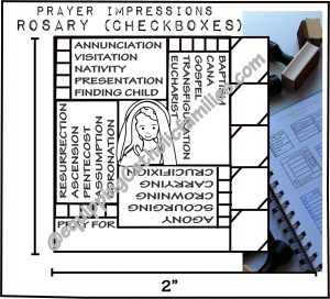 Rosary Journal Stamp