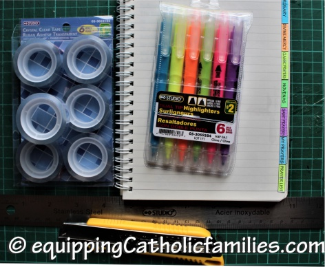 Catholic Prayer Bullet Journal Supplies