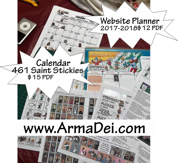 Catholic Planner and Calendar Craft Kits