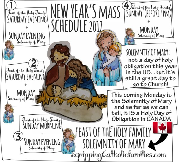 Holy Family and New Year's Eve Masses
