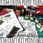 Custom Lenten Prayer Journal with Stamps and Printables