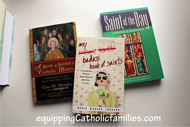 saints books for moms